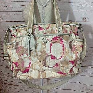 Coach Pink Baby Diaper Bag